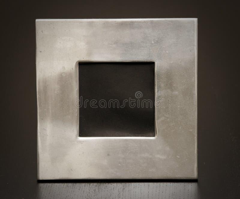Geborsteld metaalframe stock fotografie