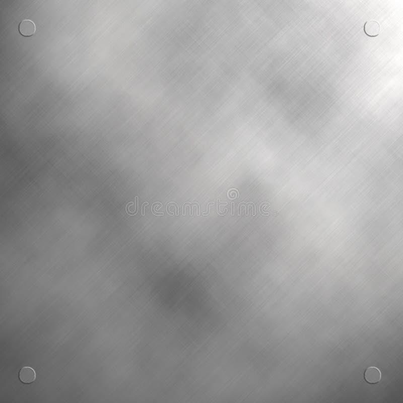 geborsteld roestvrij staalpaneel stock illustratie