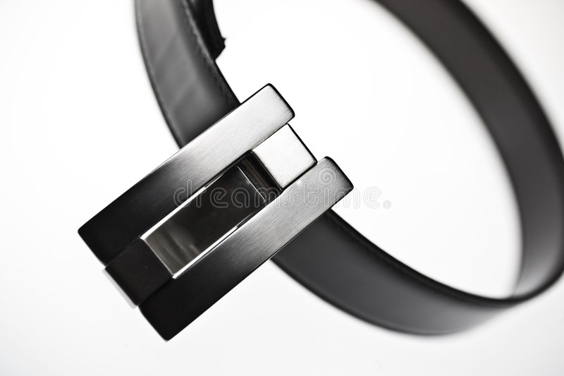 Geborstelde aluminiumRiem royalty-vrije stock foto