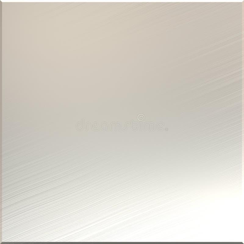 Geborstelde aluminiumspiegel stock illustratie