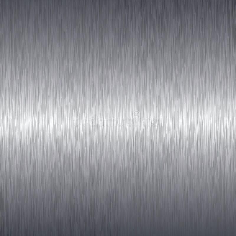Geborstelde de plaatachtergrond van het aluminiummetaal stock illustratie
