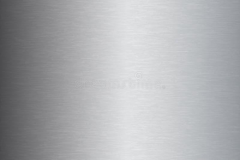 Geborstelde de textuur vectorillustratie van het metaalroestvrije staal stock foto's
