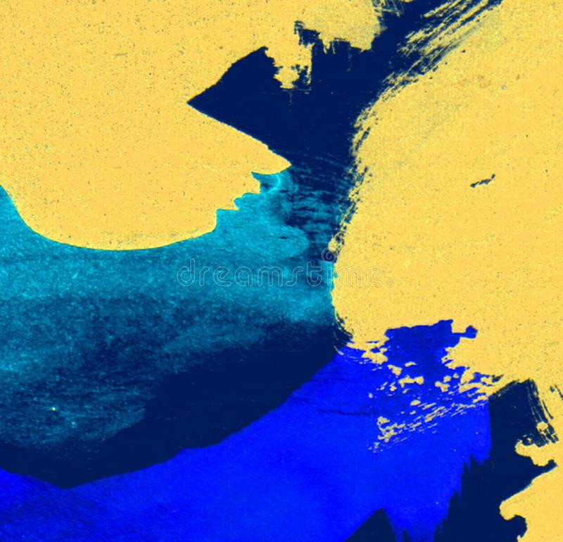 Geborstelde geschilderde abstracte achtergrond Zon en wolkenachtergrond met een gekleurde pastelkleur vector illustratie