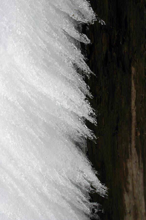 Geborstelde ijsachtergrond stock foto's