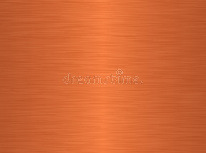 Geborstelde koperachtergrond stock illustratie