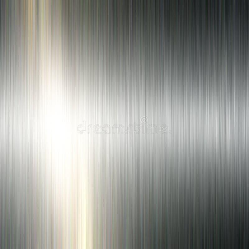 Geborstelde metaalachtergrond stock illustratie