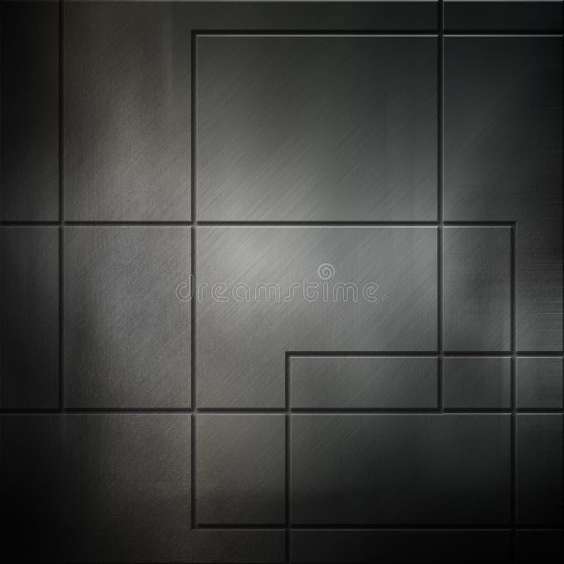 Geborstelde metaalachtergrond vector illustratie