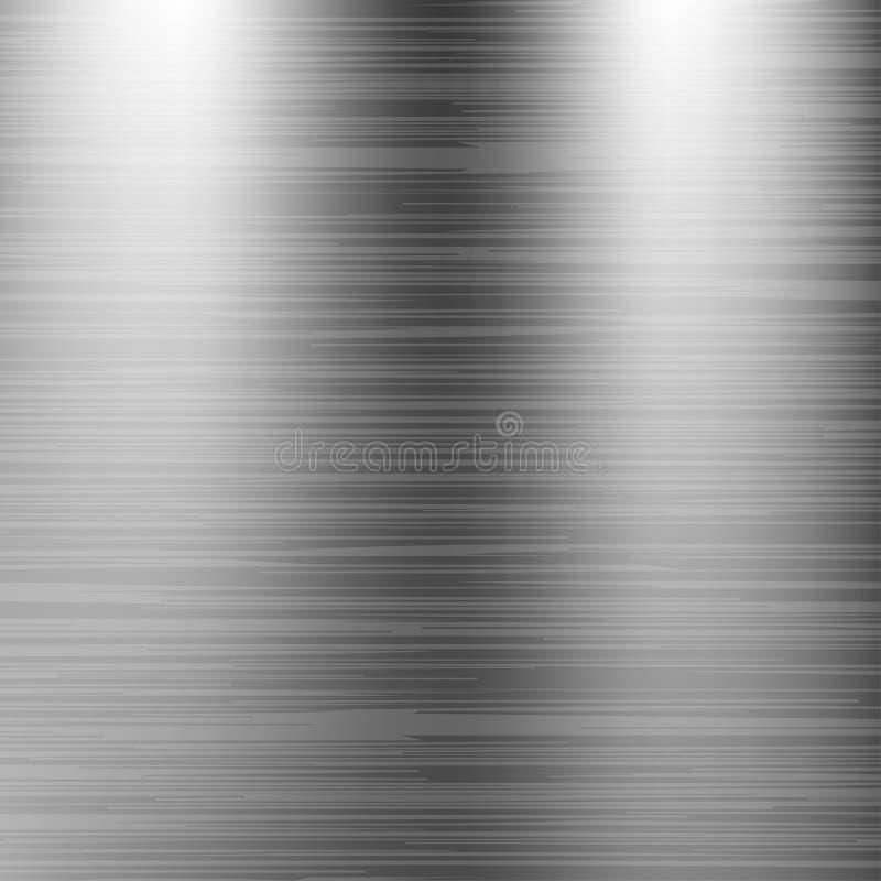 Geborstelde roestvrij staalachtergrond De textuur van het metaal stock illustratie