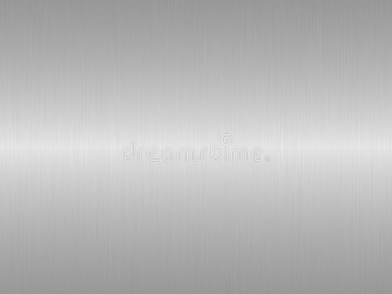 Geborstelde zilveren metaalachtergrond vector illustratie