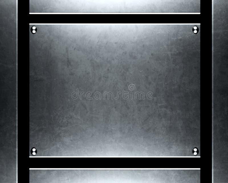 Geborstelde zilveren metaalachtergrond royalty-vrije stock afbeeldingen