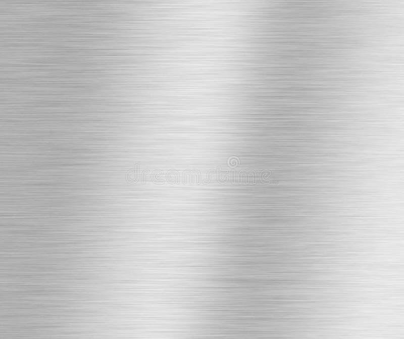 Geborstelde zilveren metaalachtergrond stock fotografie
