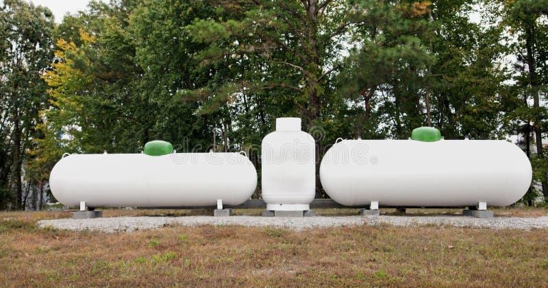 Gebotteld gas stock foto's