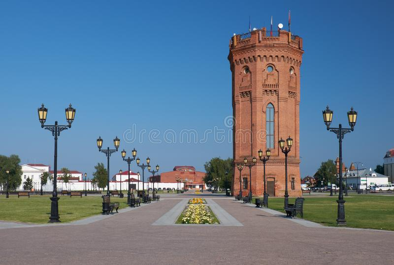 Gebouwd in 1902 Tobolsk het Kremlin Tobolsk Tyumen Oblast Rusland royalty-vrije stock foto's