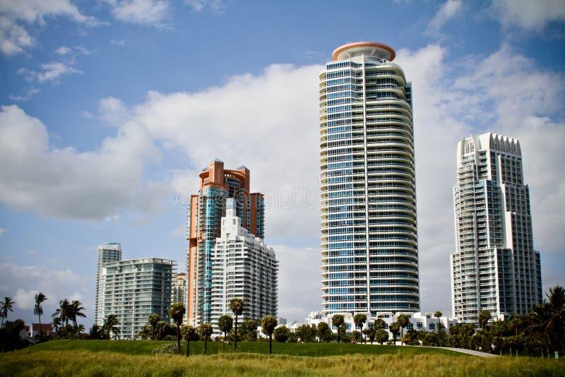 Gebouwen 7 van het Strand van het zuiden stock foto