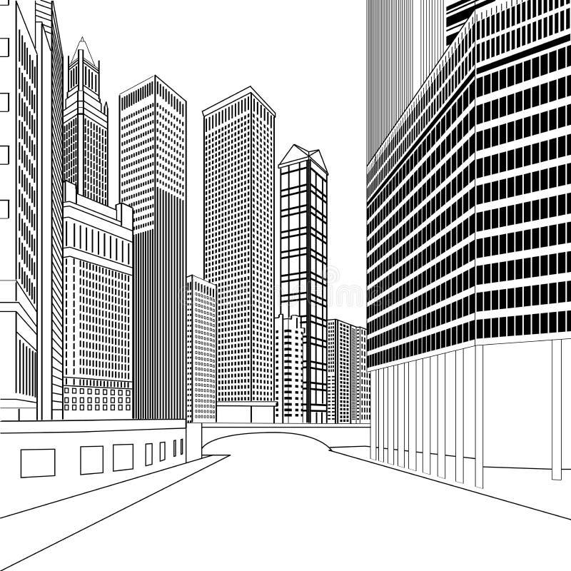 gebouwen royalty-vrije illustratie