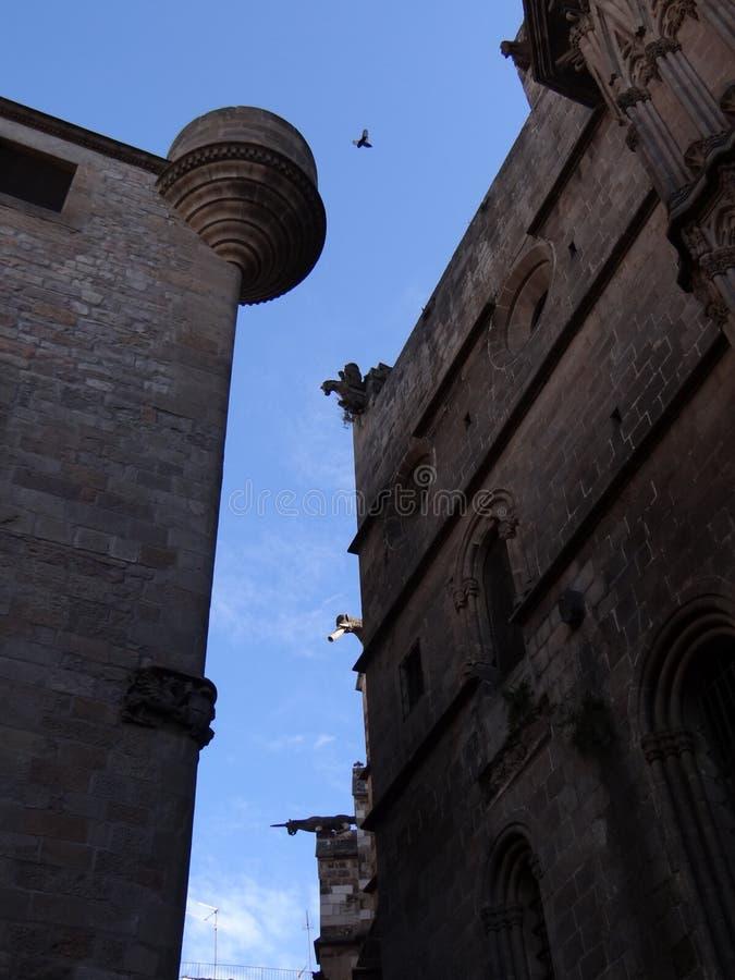 Gebouwen in Barcelona stock foto's