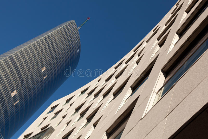 Gebouwen in Bilbao stock foto's