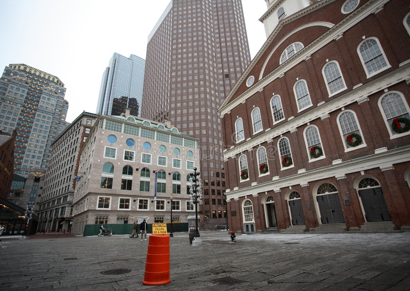 Gebouwen in Boston Van de binnenstad royalty-vrije stock afbeelding