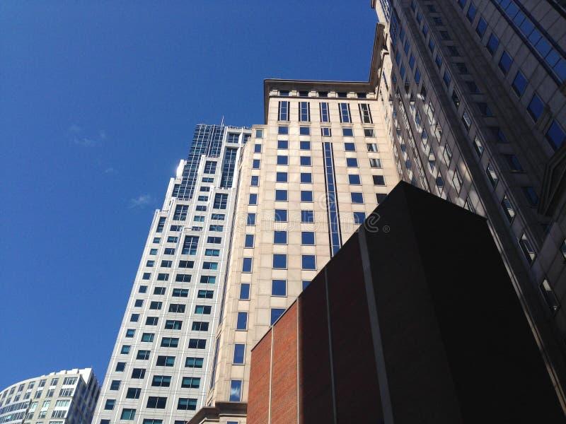 Gebouwen Boston van de binnenstad royalty-vrije stock afbeeldingen