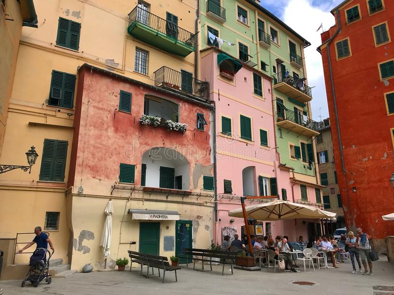 gebouwen in Camogli, Italië royalty-vrije stock foto's