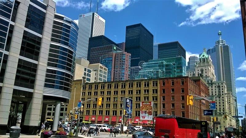 Gebouwen de van de binnenstad van Toronto royalty-vrije stock afbeelding