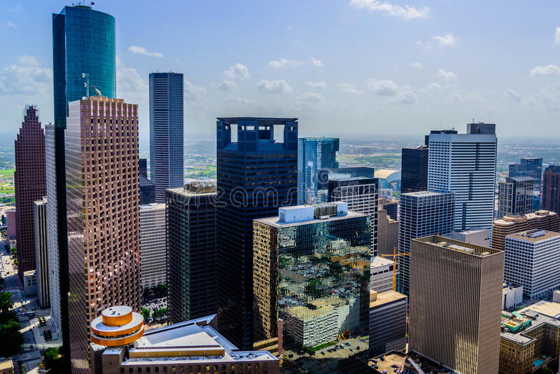 Gebouwen de van de binnenstad van Houston royalty-vrije stock afbeelding