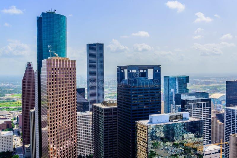 Gebouwen de van de binnenstad van Houston stock afbeelding