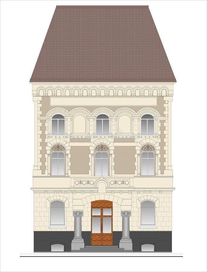 Gebouwen en structuren van de vroege en medio 20ste eeuw royalty-vrije illustratie