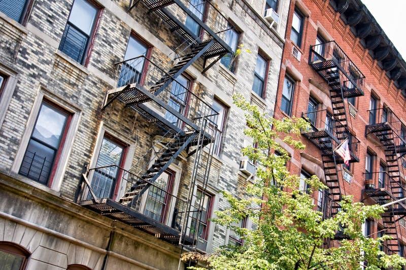 Gebouwen in het Dorp van Greenwich, New York stock fotografie