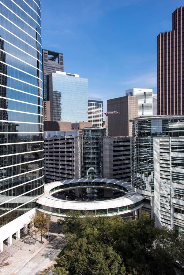 Gebouwen in Houston van de binnenstad, Texas royalty-vrije stock afbeeldingen