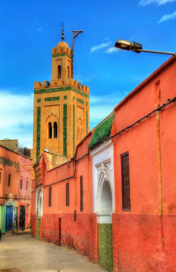 Gebouwen in Medina van Marrakech, een Unesco-erfenisplaats in Marokko royalty-vrije stock foto's