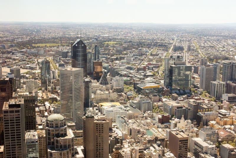 Gebouwen in Melbourne stock afbeeldingen