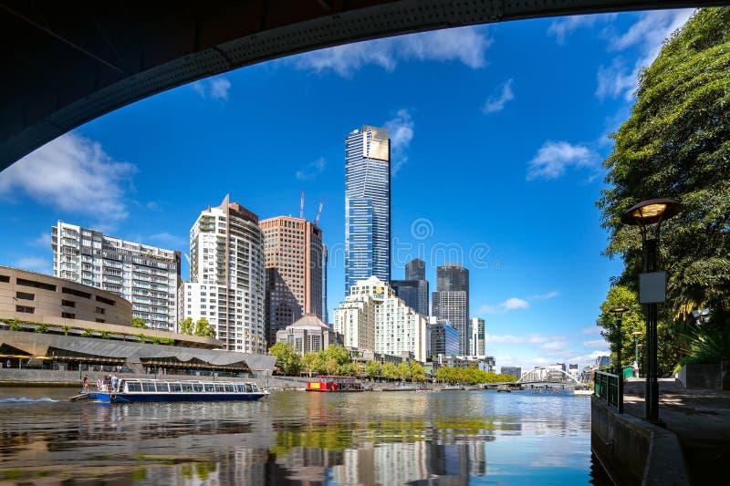 Gebouwen in Melbourne stock foto's