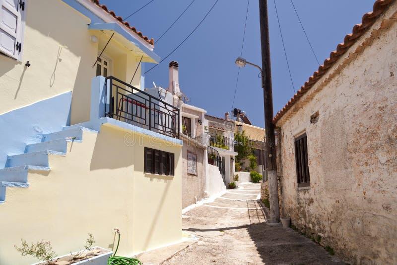 Gebouwen op Samos royalty-vrije stock foto