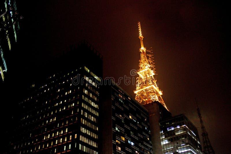 Gebouwen in Sao Paulo stock afbeeldingen