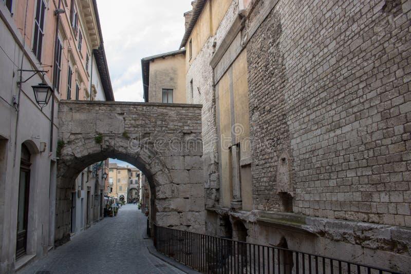 Gebouwen in Spoleto stock afbeelding