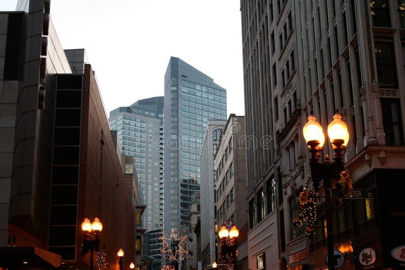 Gebouwen van de stad in Kruising in Boston royalty-vrije stock afbeelding