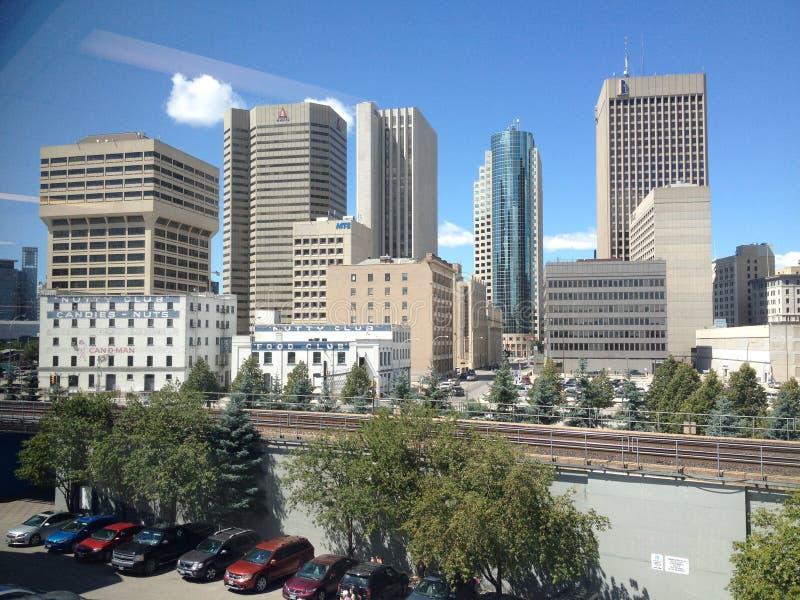 Gebouwen van de stad in in Winnipeg royalty-vrije stock foto's