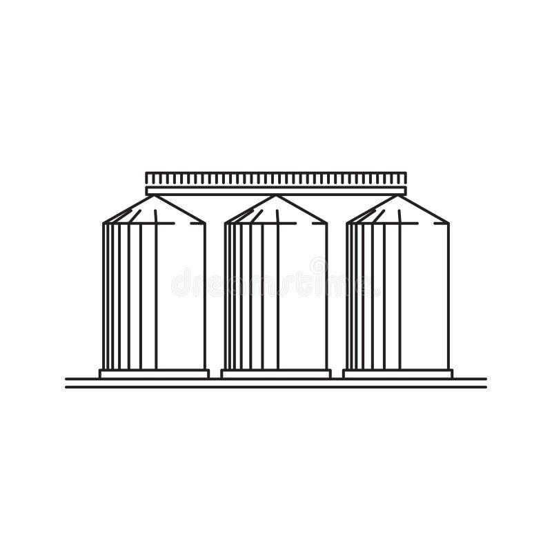 Gebouwen van het graanschuurpictogram vector illustratie