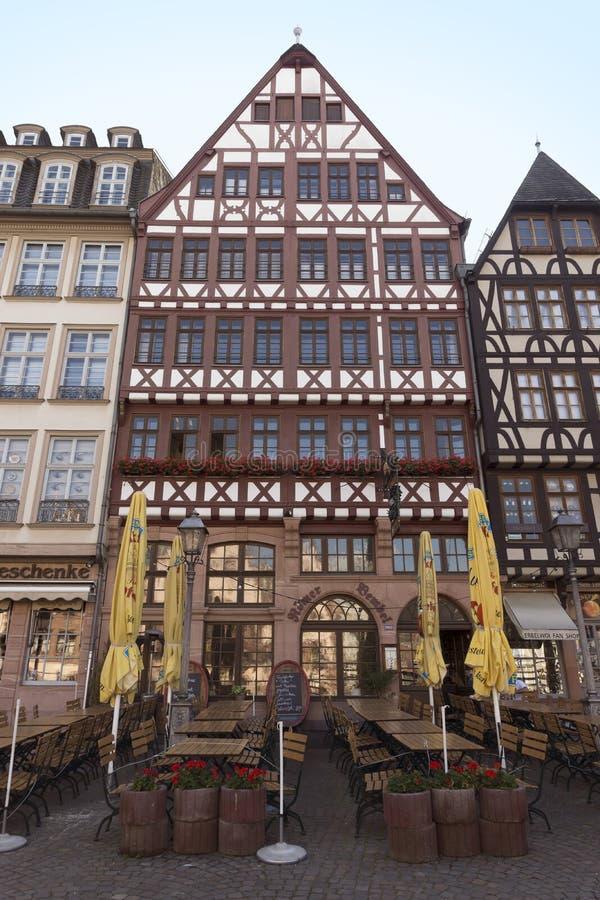 Gebouwen van historische Roemer-plaats stock fotografie