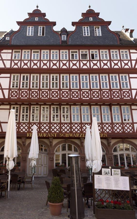 Gebouwen van historische Roemer-plaats stock afbeeldingen
