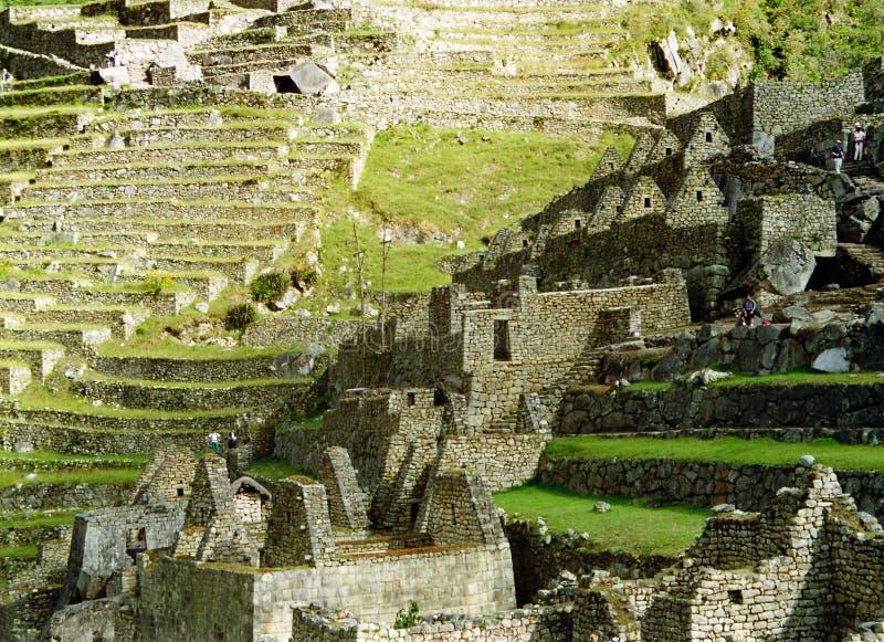 Gebouwen van Machu Picchu stock fotografie