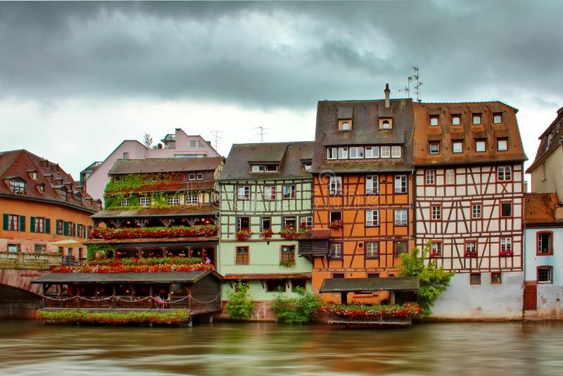 Gebouwen van Straatsburg stock foto