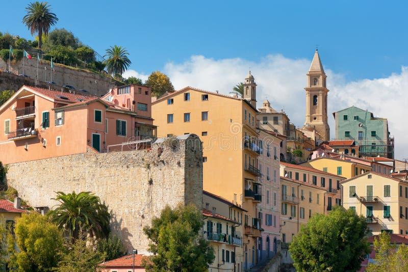Gebouwen van Ventimiglia royalty-vrije stock foto