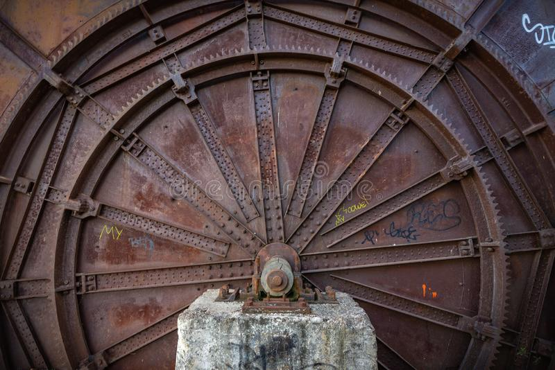 Gebouwen verlaten in ruïne stock foto