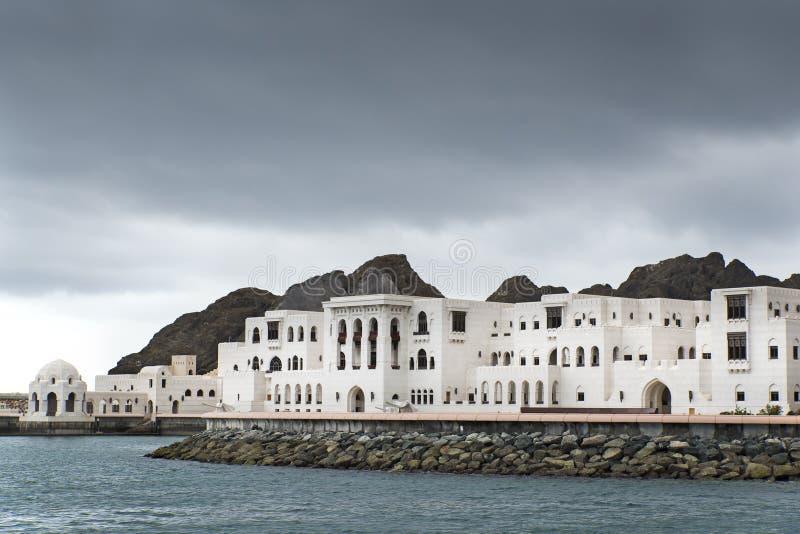 Gebouwenmuscateldruif Oman royalty-vrije stock fotografie
