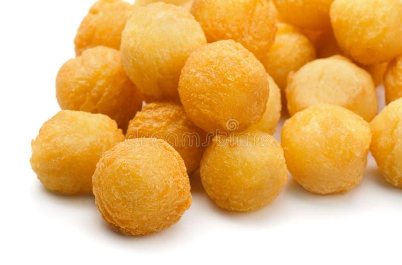 Gebraden aardappelballen stock afbeeldingen