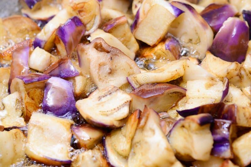 Gebraden aubergine, speciaal voedsel stock foto