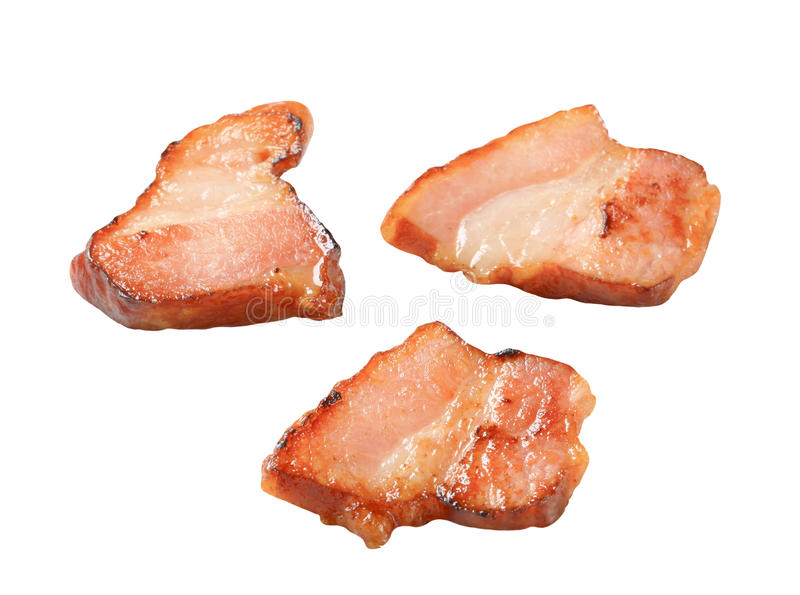 Gebraden bacon royalty-vrije stock afbeeldingen