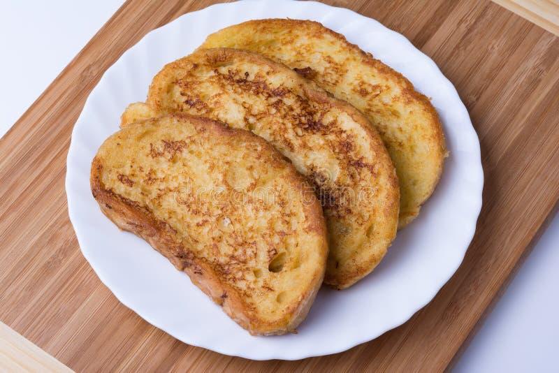 Gebraden broodplakken Bulgaars Ontbijt royalty-vrije stock afbeeldingen
